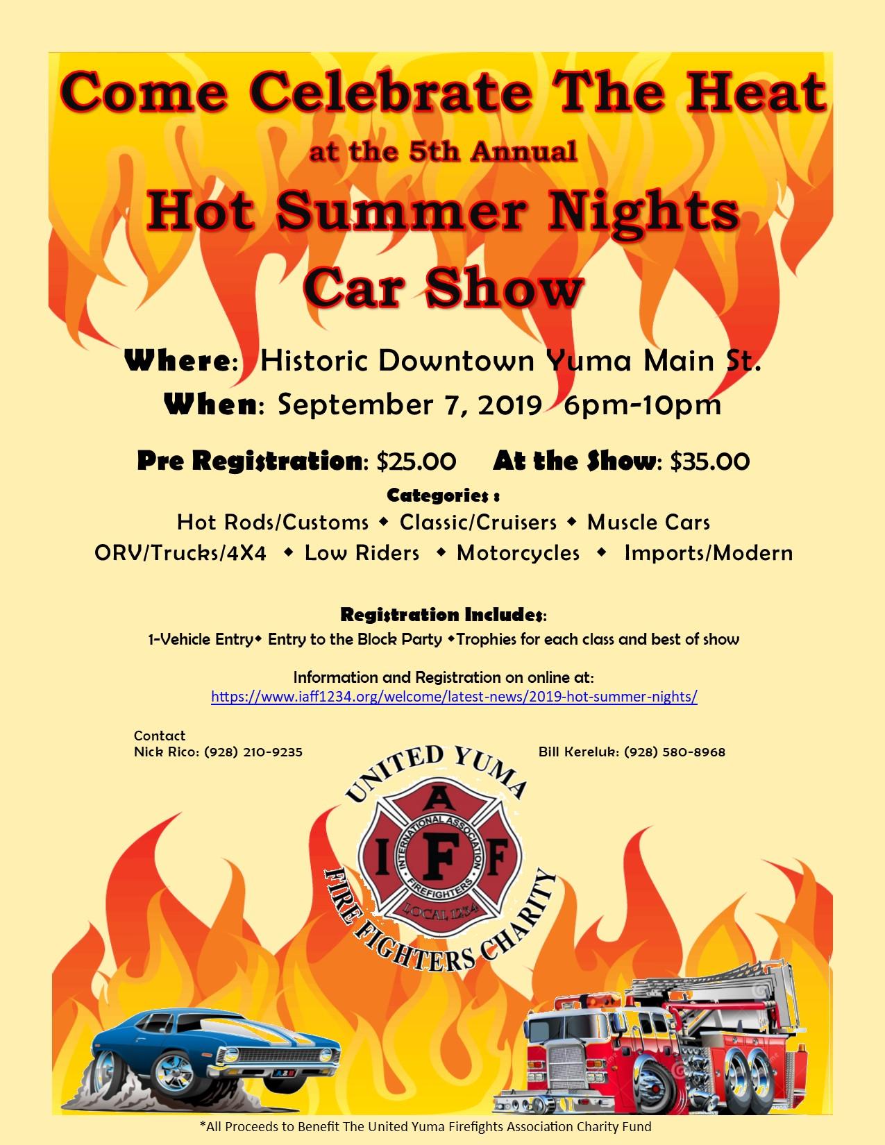 2019 Hot Summer Nights – United Yuma Firefighters